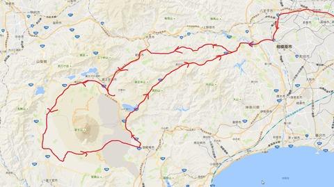 160806富士山一周map